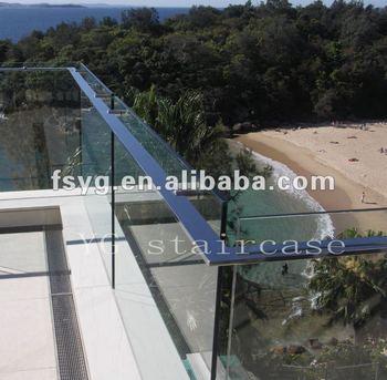 Balkon Handlauf Aus Edelstahl Glasgelander Yg B28 Buy Balcnoy Glas