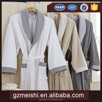 Wholesale hotel terry cloth 100% cotton bathrobe