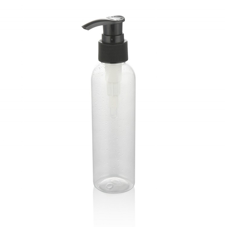 50ml  100ml 150ml clear flat shoulder  pet plastic bottle with lotion pump
