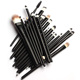 Sialia Professional Human Hair Eyeshadow Makeup Brush Set Factory Private Label Maquillaje Make Up Cosmetics Brushes 20pcs