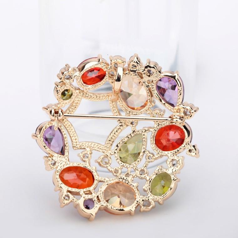 LUOTEEMI Jewelry Design Hot Moda De Luxo Mona Lisa Multicolor Cubic Zirconia  Mulheres Nupcial Vestido De