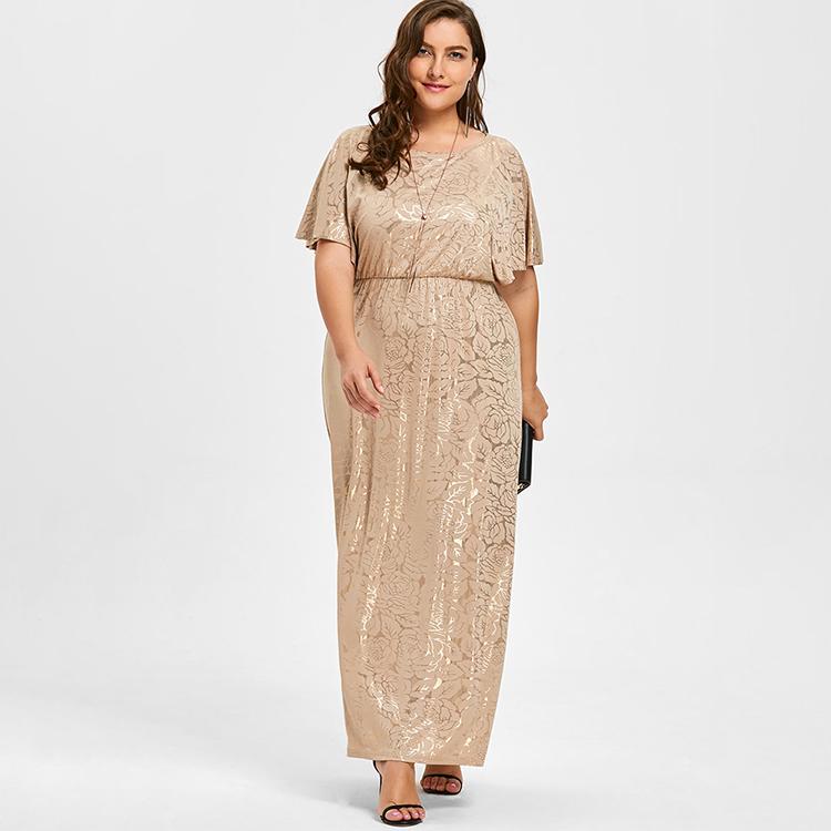 bb4962d75f 2019 mulheres design elegante impressão de manga curta senhoras vestido de  noite por atacado vestido sexy