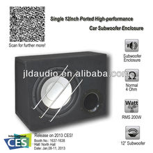 JLD audio Enkele 12 inch Hoge-perfornance speaker box 4 Ohm 200 <span class=keywords><strong>w</strong></span> <span class=keywords><strong>rms</strong></span> power Auto Subwoofer Behuizing