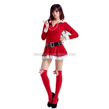 plus size fat women sexy christmas costume FGWC-0309