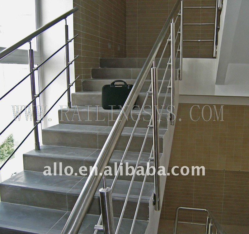 Stainless Steel Stair Glass Balcony Railing For Staircase Outdoor Sale  Terrace Railing Designs