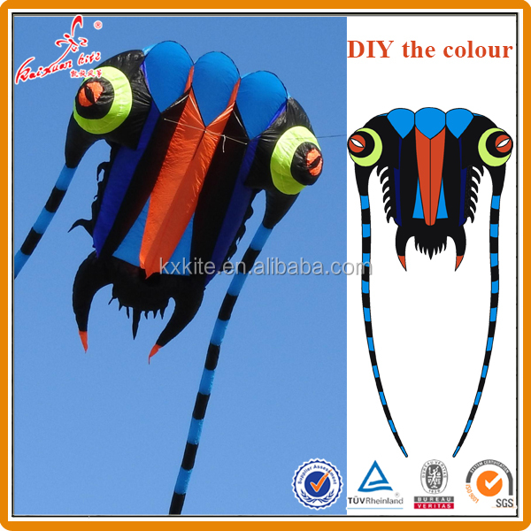 Various sizes trilobite pilot kite