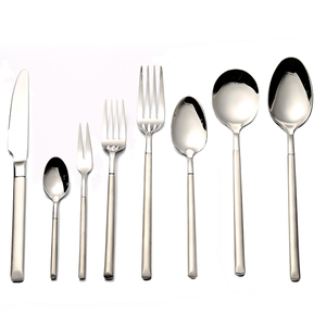 Latest Used Restaurant Flatware, Stainless Steel Matte Handle Cutlery set