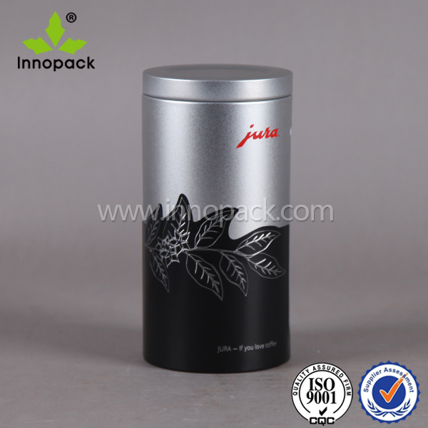 500ml printed food grade round coffee can with window