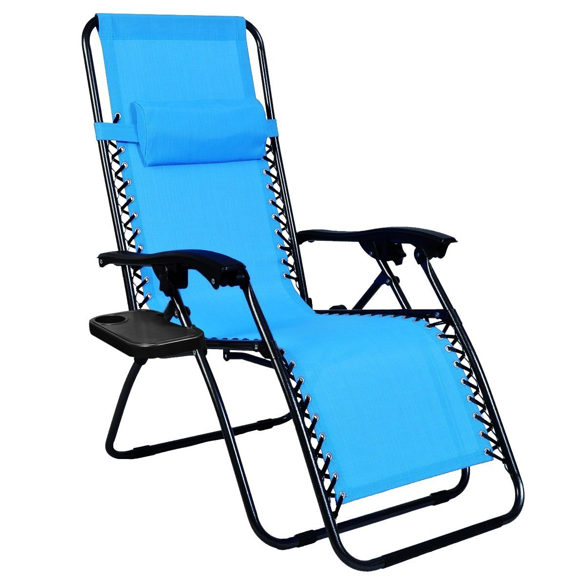 Get Quotations · Odaof Zero Gravity Recliner Lounge Chair with Cup Holder Light Blue  sc 1 th 225 : rei zero gravity chair - Cheerinfomania.Com