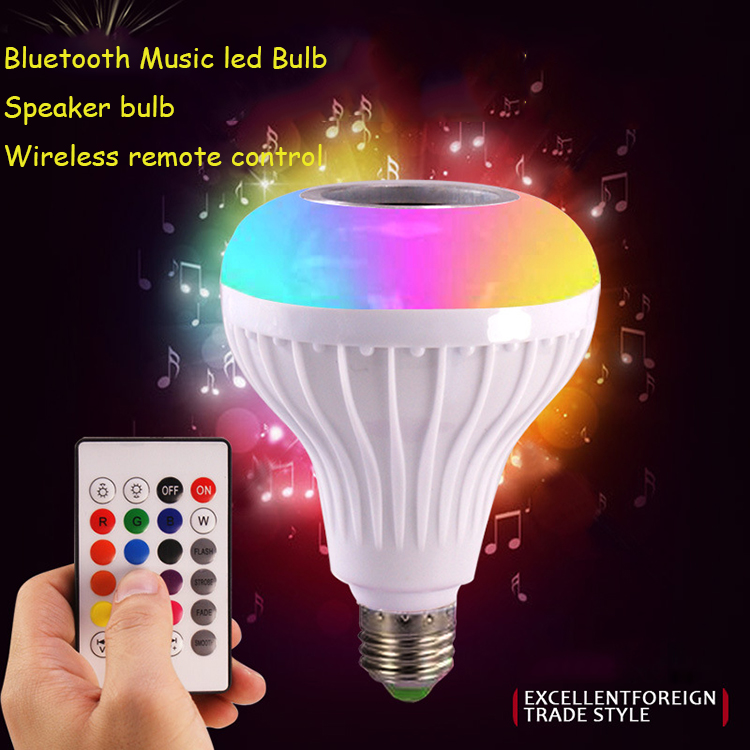 2018 new Invention Smart Bulb music Bluetooth RGB Wifi Wireless Led Bulb Lamp,E27 Base type facotry Price Led Smart Lighting