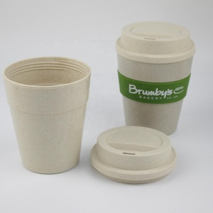 New Arrival Custom Logo Eco Friendly Biodegradable Reusable Coffee Cup with Silicone Sleeve