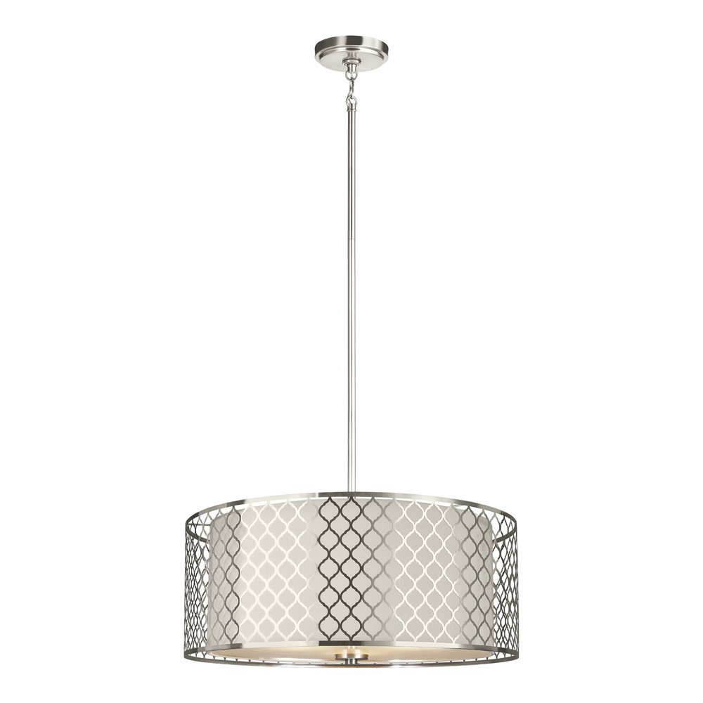 Get quotations · sea gull lighting 6515503 962 jourdanton three light pendant with satin etched glass and