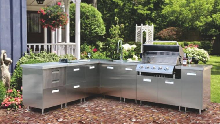 304 316 Stainless Steel Kitchen Cabinet Outdoor Metal Designs