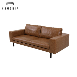 sectional living room pu leather sofa 3 seater