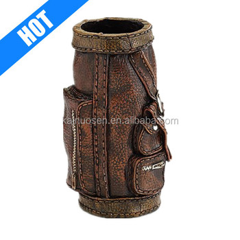 "decorative 7 1/2"" Tall golf vases with Realistic Textured Design"