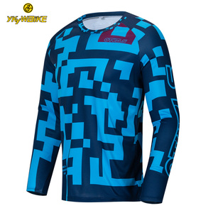 Custom cycling jersey Clothing Manufacturers Downhill bike Shirts Men Long Sleeve ciclismo MTB Downhill jersey