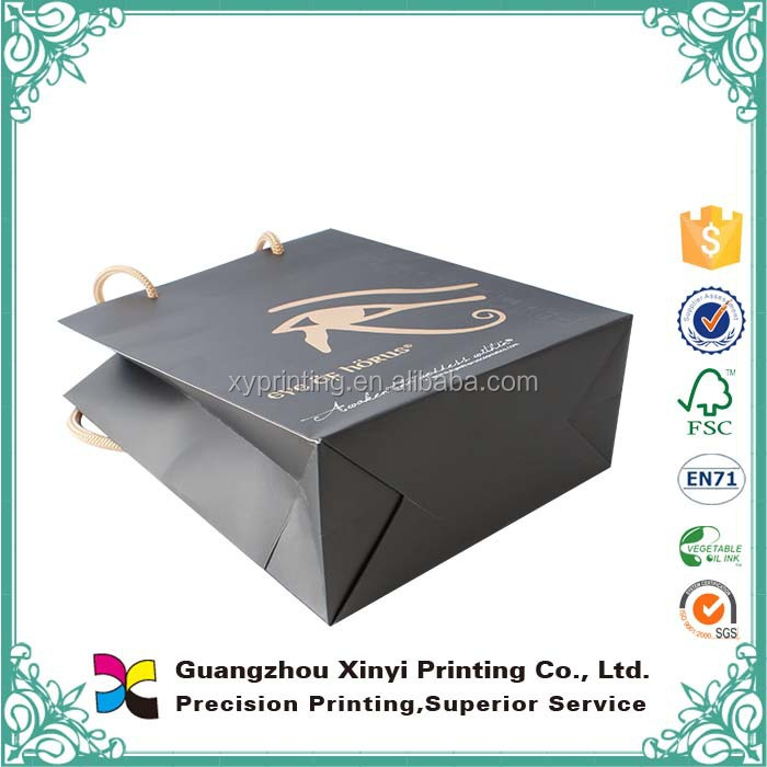 Art paper printing eco-friendly matt chrome paper bag