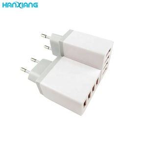 Multiple Universal Travel Wall Charger 100-240V AC DC Adapter 4 Port USB Wall Mount Charger , Travel Wall Charger