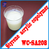 Protective styrene acrylate copolymer emulsion coating