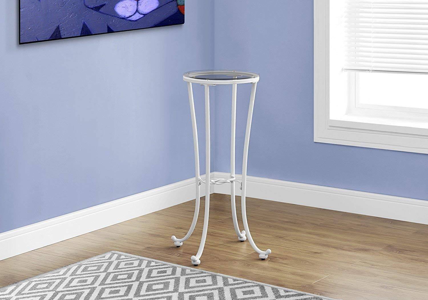 Indoor Multi-Function Accent Table Study Computer Home Office Desk Bedroom Living Room Modern Style End Table Sofa Side Table Coffee Table White tempered glass accent table