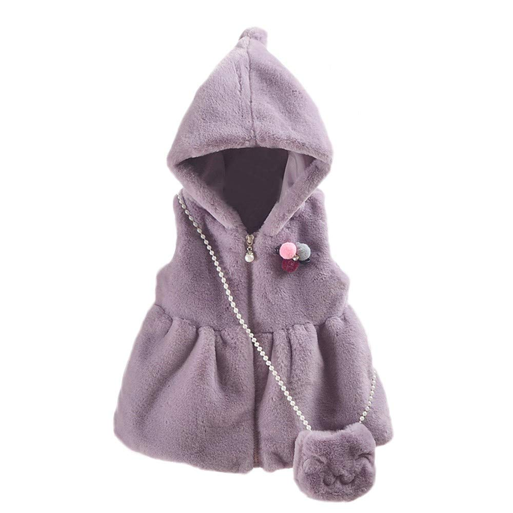 c61590985 Get Quotations · OutTop Baby Boys Girls Fleece Winter Warm Waistcoat  Toddler Kids Sleeveless Solid Zipper Hooded Jackets Coats