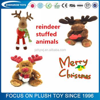best made toys christmas animated plush reindeer stuffed animals - Christmas Stuffed Animals