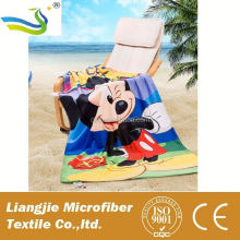 Fashion Design microfiber Lovely Cartoon Hooded Terry Kids Baby Beach Towel Wholesale
