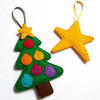 Hot new products alibaba china fabric bulk handmade best selling felt diy pine tree star hanging chinese christmas decorations