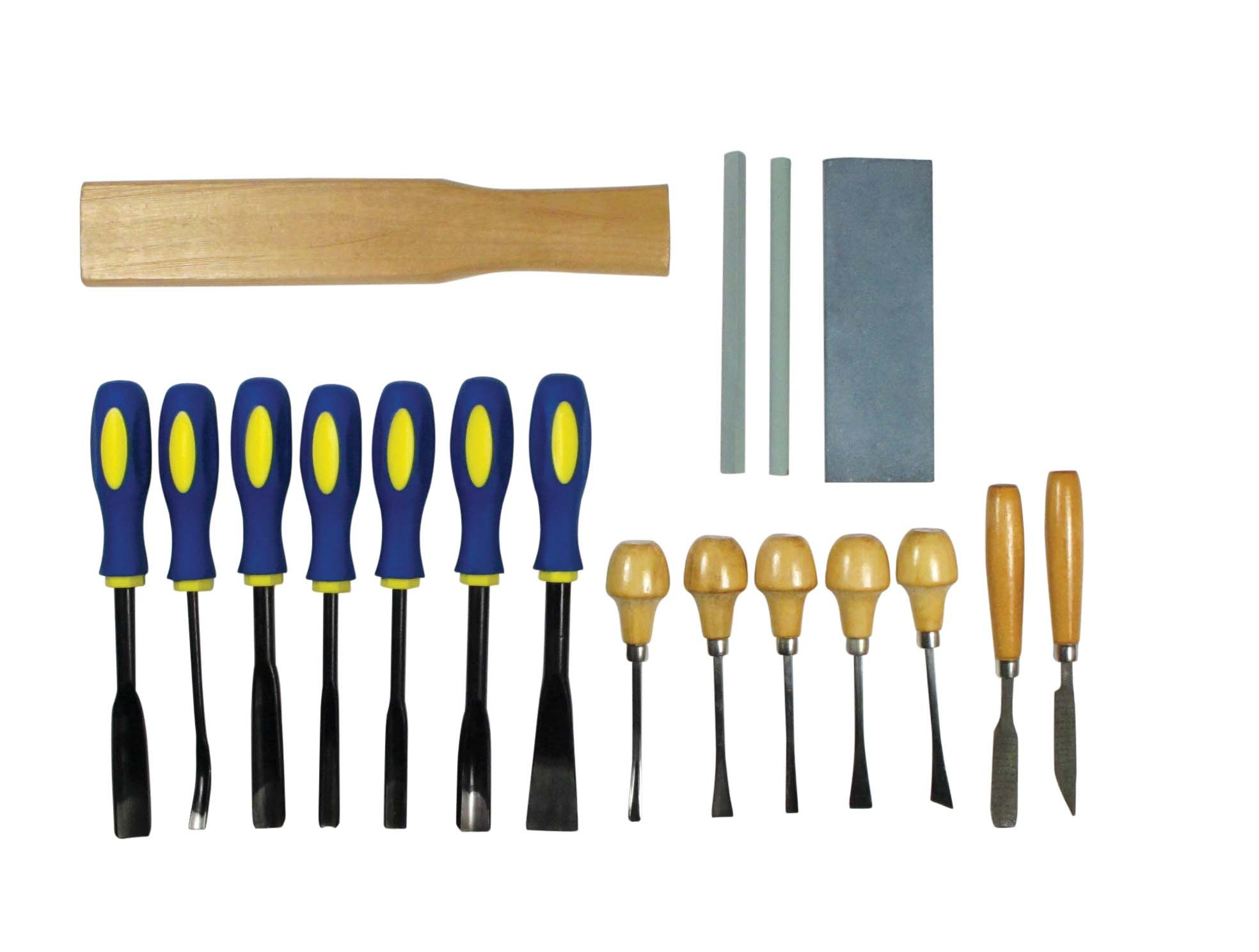 SE 7718WC 18-Piece Professional Quality Wood Carving Chisel Set