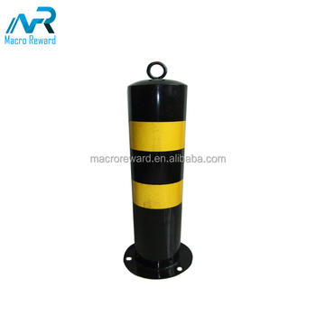 Cheap price garden safety yellow stainless steel fixed bollard