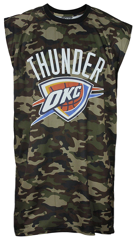 Oklahoma City Thunder NBA Big & Tall Mens Camo Muscle Shirt, Camo Green