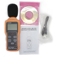 Sound Level Meter 30-130dB Digital Noise Tester USB interface Data storage SL4201