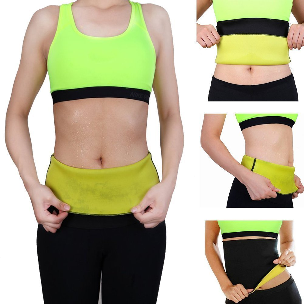 b6f20ead9d Get Quotations · Hot Thermo Sweat Shapers Slimming Belt Sauna Waist Cincher  Girdle for Weight Loss Women Size XL