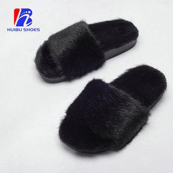 64e5b7d111359 Indoor Bedroom Custom Faux Fur Slides Chicken House Ladies Plush Slipper -  Buy Ladies Plush Slipper,House Plush Slipper,Chicken Plush Slipper Product  ...