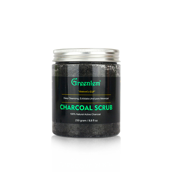Private Label Organic Charcoal Body Scrub