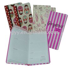 Colorful hardcover notebooks/address books/diaries 2012