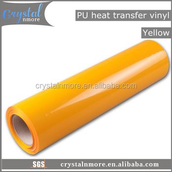 Yellow Flex PU Heat Transfer Vinyl for Clothing