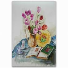new design canvas watercolor flower oil painting with frames