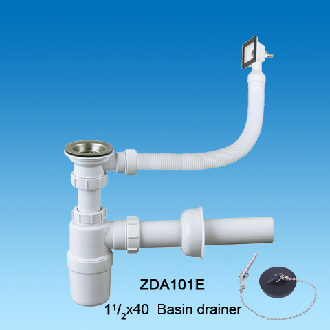 Kitchen Sink Drainer With Strainer Siphon Bottle Trap Wash