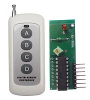 RF wireless transmitter&receiver,super regenerative decoding receiver module+1000M wireless remote control