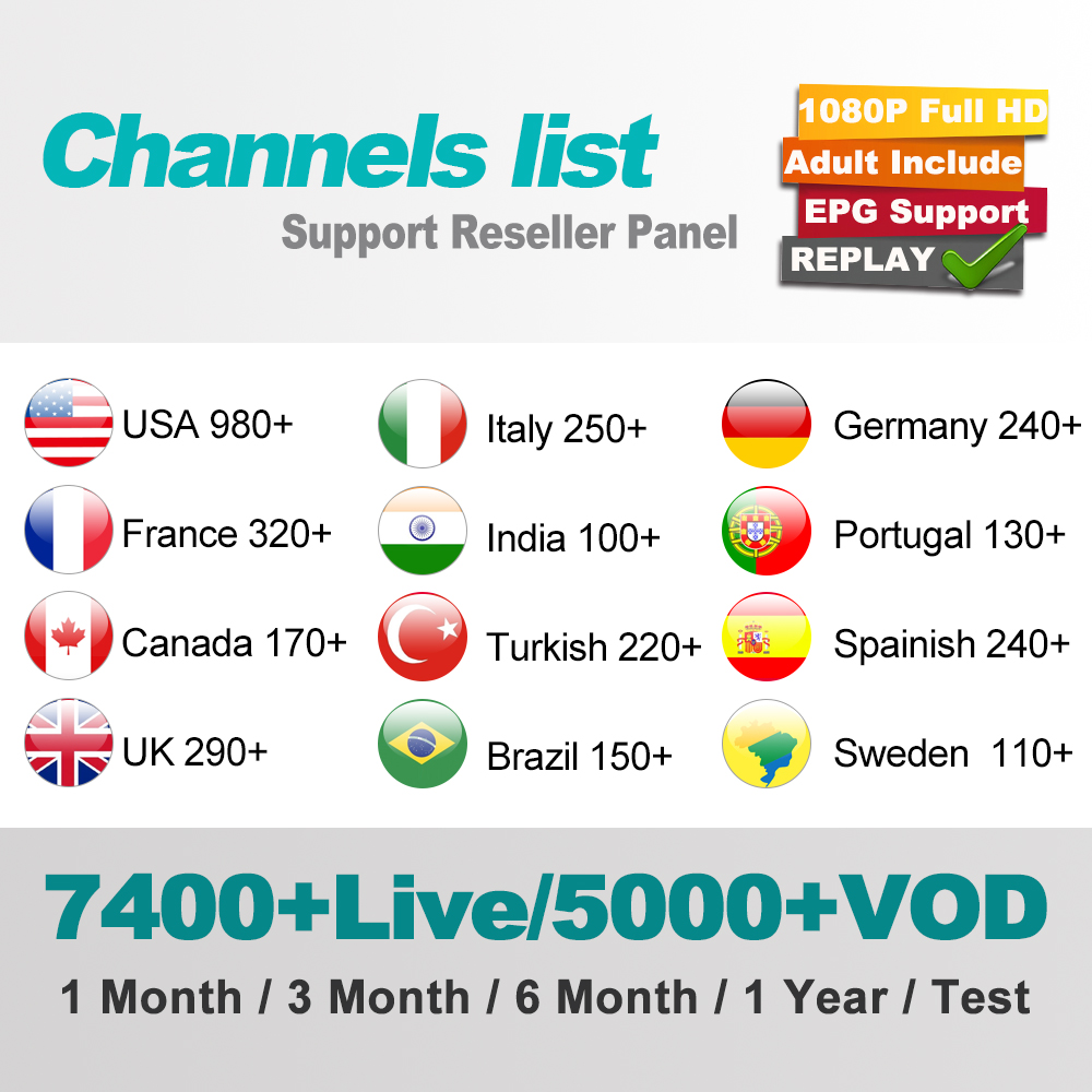 Magic Portugal Iptv 1 Year Subscription Open Tv Box Iptv 7500+live  Tv/5000+vod Reseller Panel Free Test Code Dragon Iptv Receive - Buy  Portugal Iptv