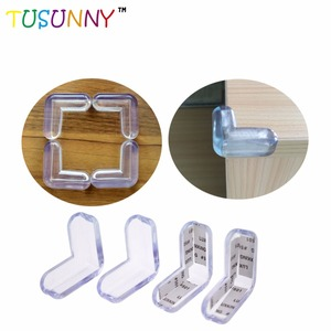 best price PVC clear transparent desk table right angle corner protector strong adhesive tape baby safety corner guard