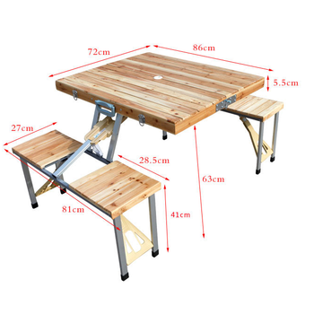 China supplier outdoor wood piece portable folding table and chairs sets picnic car table sets folding furniture