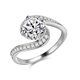 925 Sterling Silver White Cubic Zirconia Simple Light Weight Small Ring