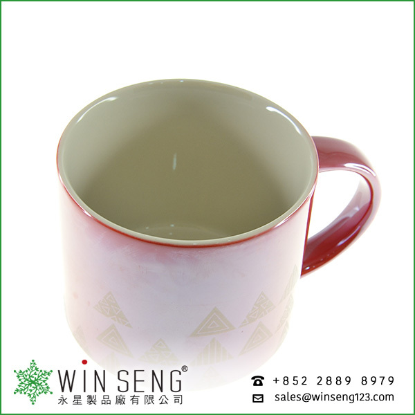 Factory Directly Porcelain red Coffee mug for sales HKTDC Hong Kong Houseware Fair
