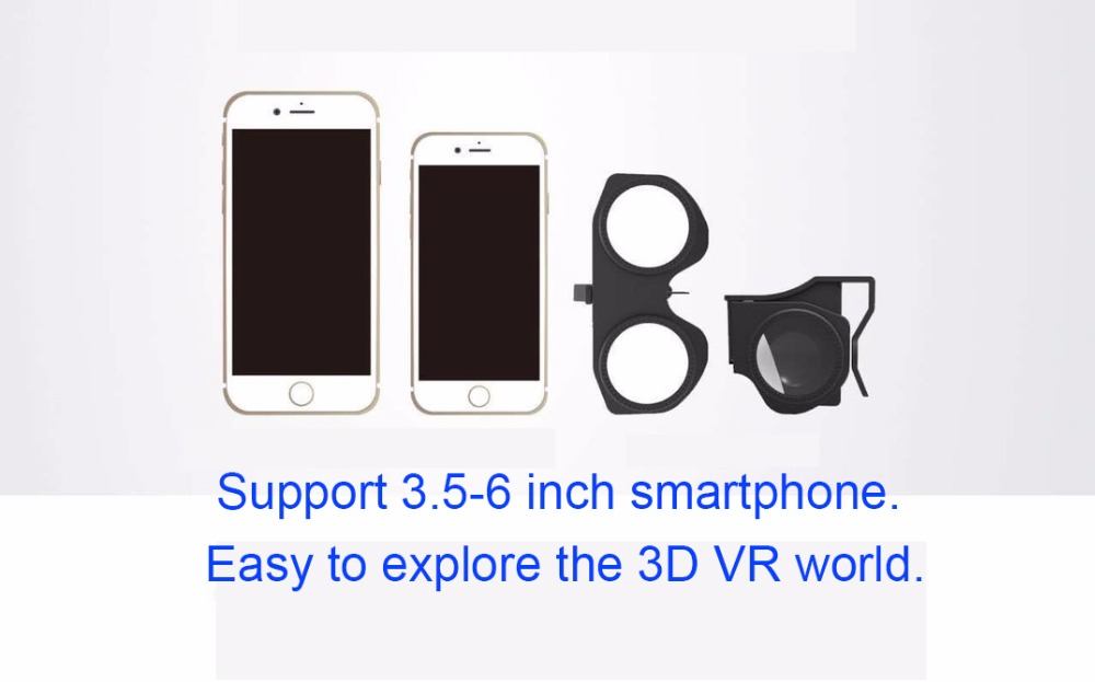 LIONTRONIC Mini Pocket Virtual Reality Glasses 3D VR Glasses Movies For  IPhone 5 6 7 SmartPhones VR MINI Mini Fold 3D Glasses Disposable 3d Glasses