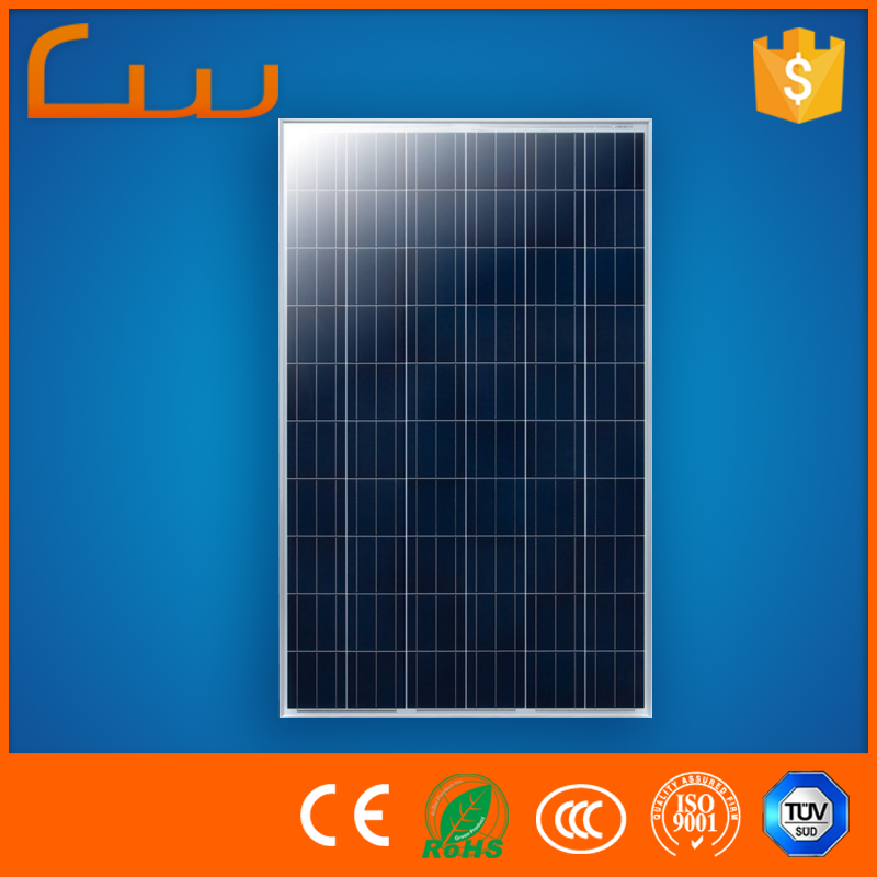 Best price power 100w poly cell solar panel with solar panel mounting bracket