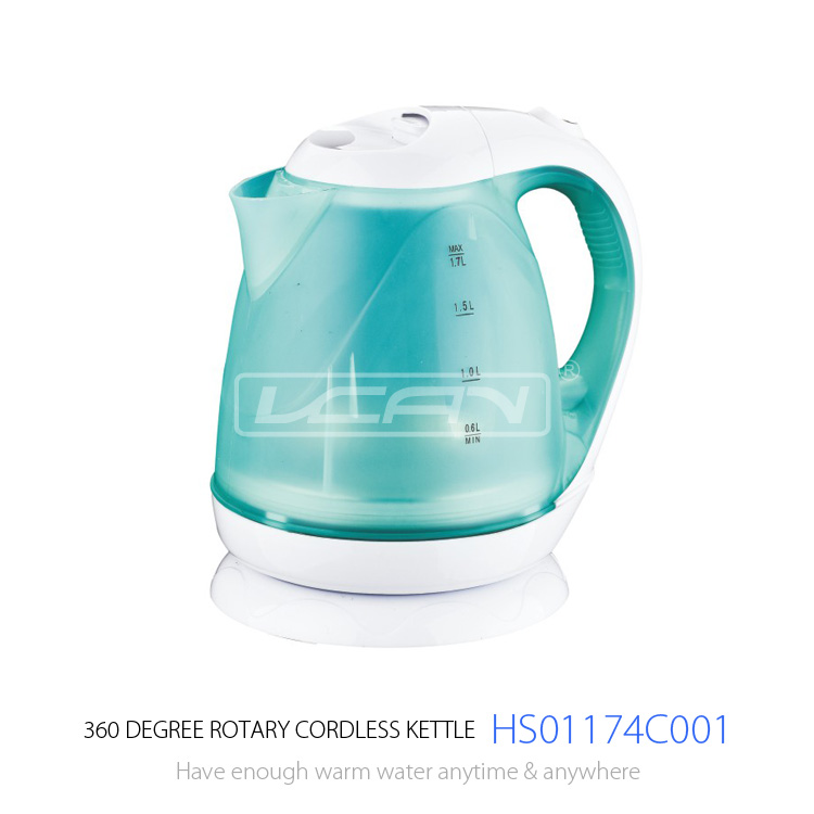 FACTORY SALE , STOCK 2000PCS ONLY 6USD/PC good quality and competitive price clear plastic electric kettle with color changing