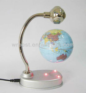 Fancy New Globe Birthday Souvenir Craft Gifts! Magnetic Levitation Turning World Globe W8008
