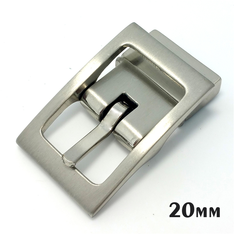 Manufacturer metal replacement flat rotating silver buckle